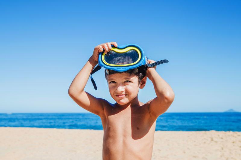 potápačské okuliare pre deti