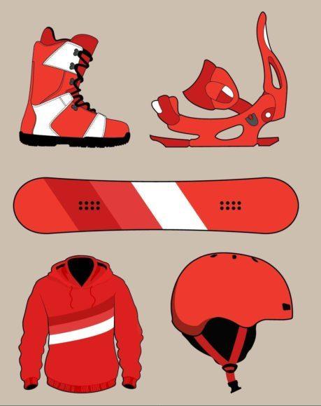 snowboard komplet set prilba