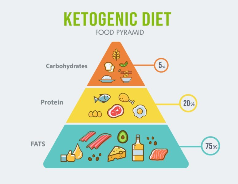 ketogenna dieta potravinova pyramida