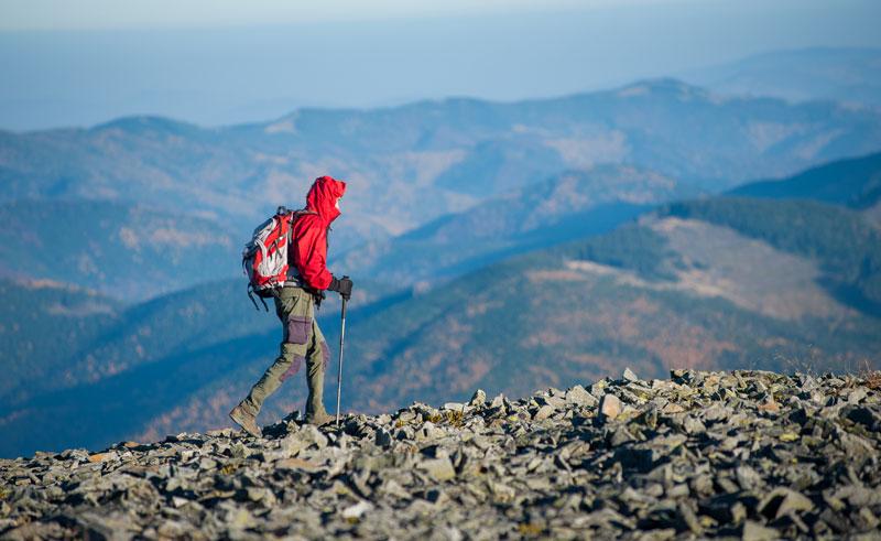 turista na hrebeni