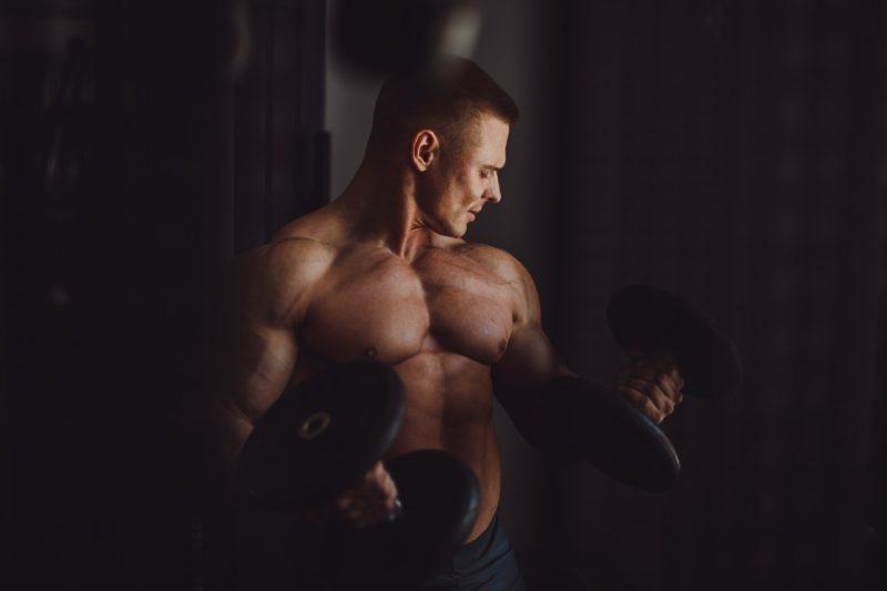 hypertrofia svalovy rast sila silovy trening biceps ramena