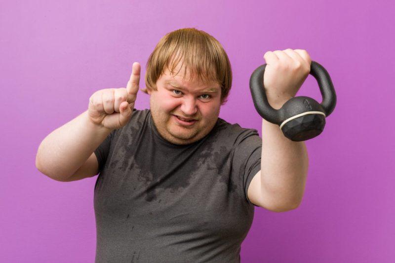 silovy trening nadvaha obezita