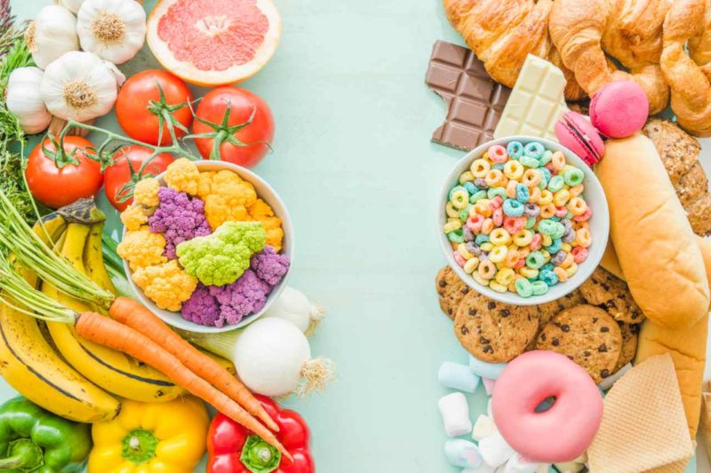 zdrave jedlo nezdrave jedlo chudnutie kalorie