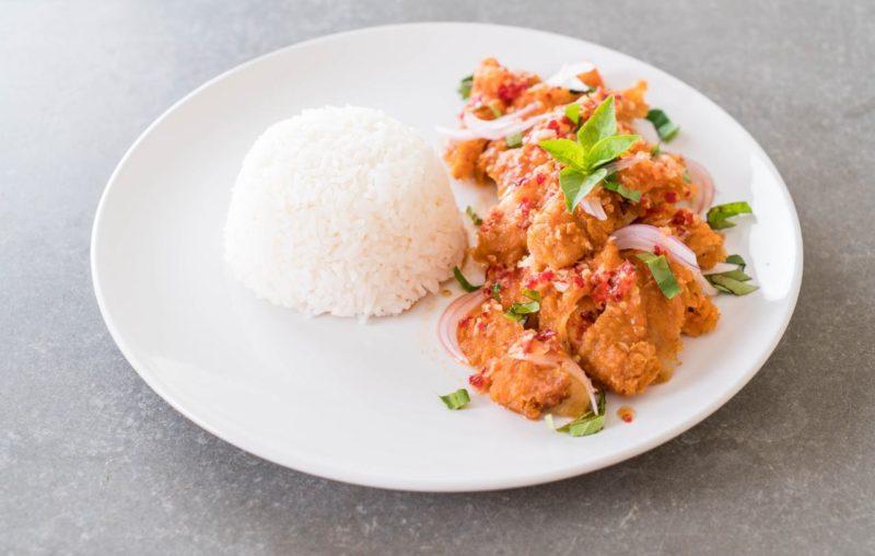 čo jesť po tréningu kura s ryžou