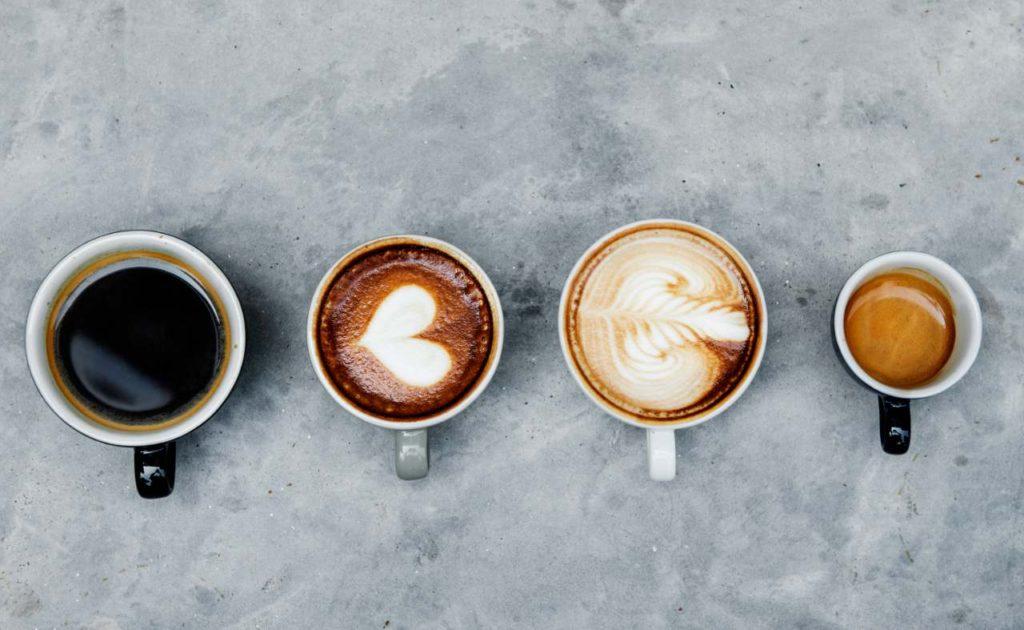 káva zdroj kofeínu latte espresso