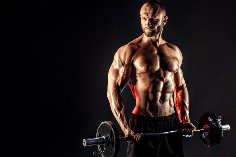 objemový tréning bicepsový zdvih cviky