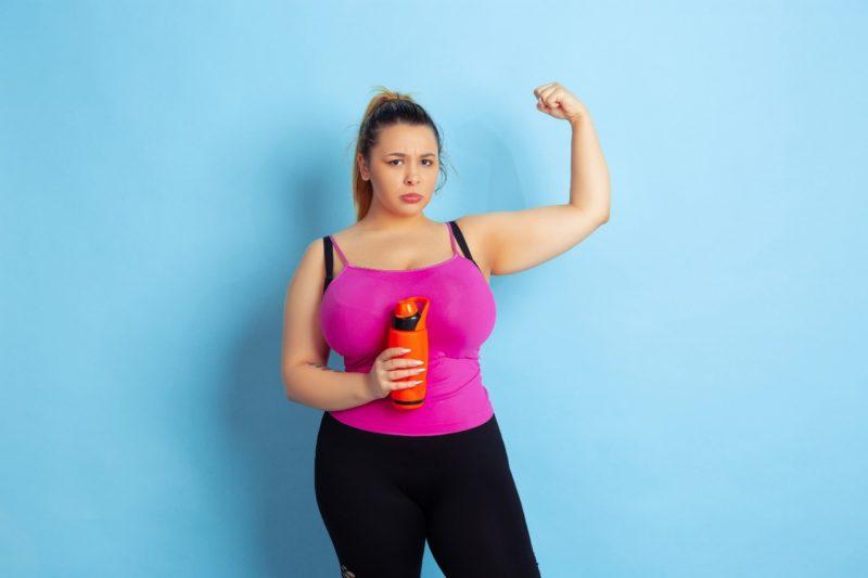 chudnutie obezna žena cvičenie
